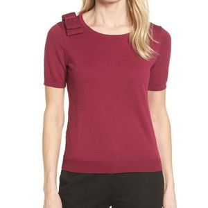 CeCe Berry Bow Shoulder Sweater